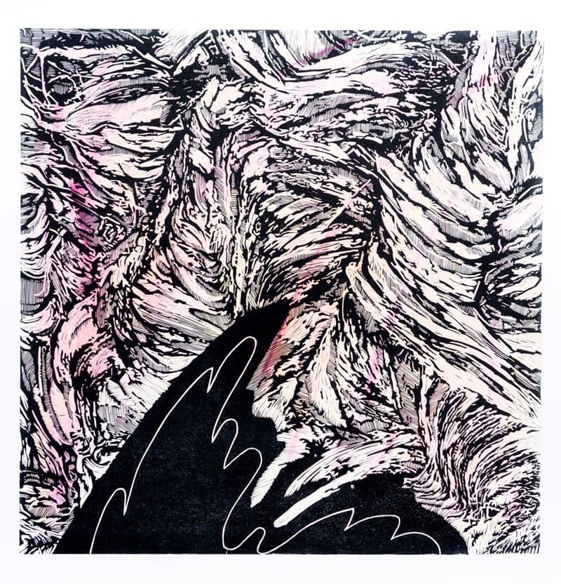 Forest | Linocut | 2017 | Kristi Neider | Prints