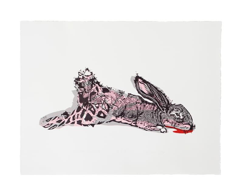 Unlucky Rabbit | Linocut | 2017 | Kristi Neider | Printmaking