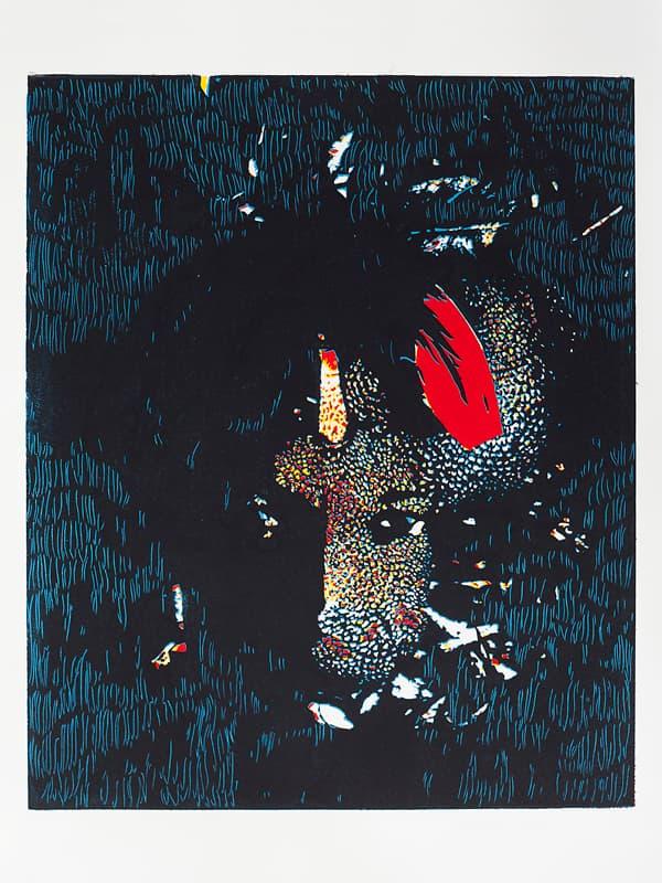 Ego 3 | Linocut | 2015 | Kristi Neider | Prints