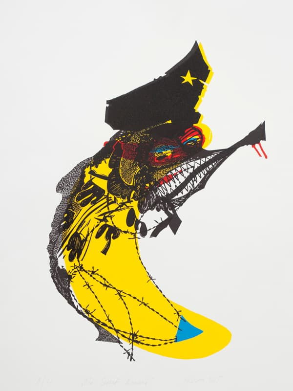 The Great Banana | Linocut | 2015 | Kristi Neider | Printmaking