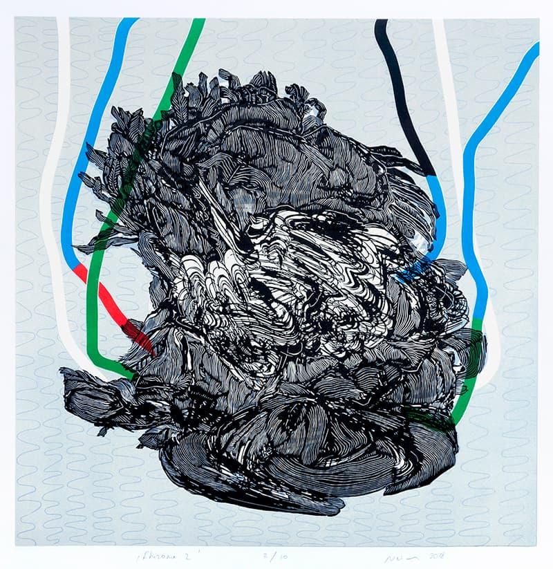 Rhizome 2 | Linocut | 2018 | Kristi Neider | Print
