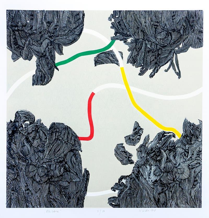 Rhizome | Linocut | 2018 | Kristi Neider | Prints