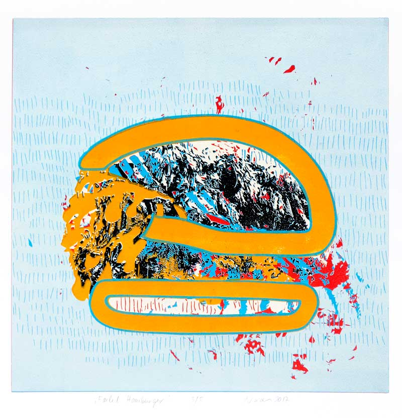 Failed Hamburger | 2017 | Kristi Neider | Printmaking