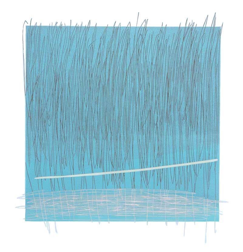 The Fog | Linocut | 2018 | Kristi Neider | Printmaking