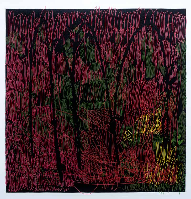 The Garden | Linocut | 2018 | Kristi Neider | Printmaking