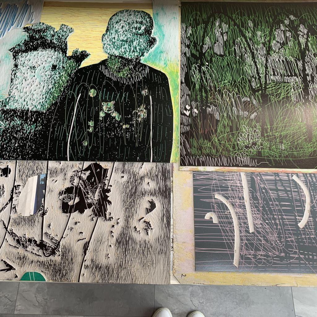 Kristi Neider | Studio | Linocut print