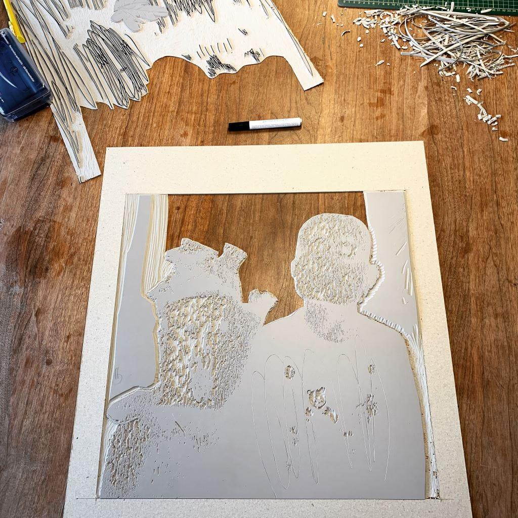 Kristi Neider | Studio | Linocut