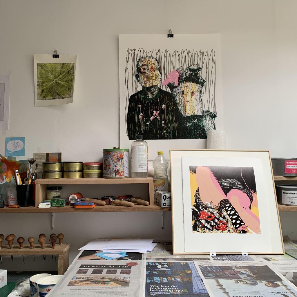Kristi Neider | Studio | Linocut prints