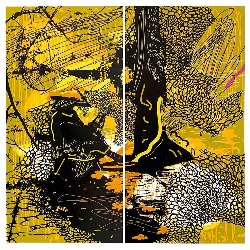 The Gardener | Linocut | 2020 | Kristi Neider | Printmaking