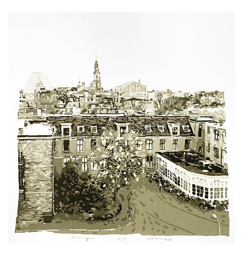 Groningen | Linocut | 2020 | Kristi Neider | Printmaking