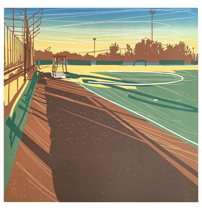 Morning | Linocut | 2020 | Kristi Neider | Printmaking