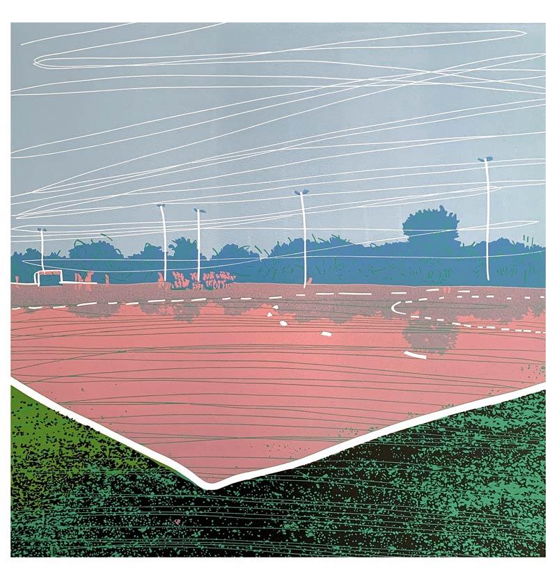 Afternoon | Linocut | 2020 | Kristi Neider | Printmaking