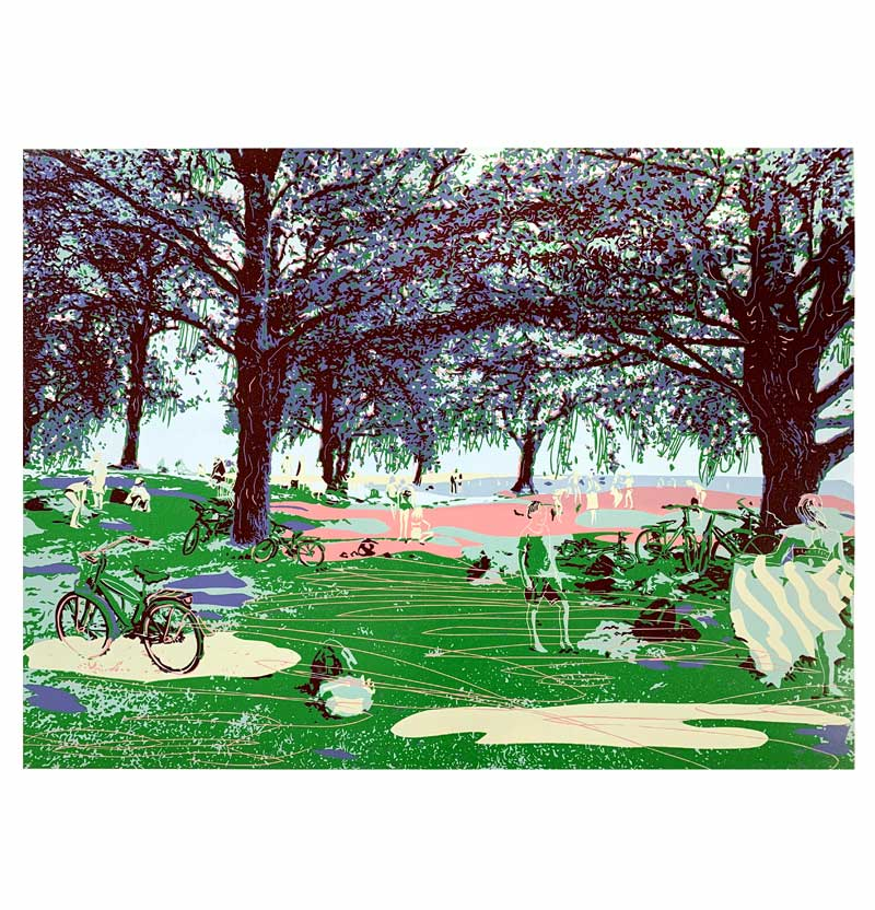 Summer before | Linocut | 2020 | Kristi Neider | Printmaking