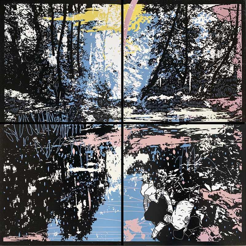 Winter | Linocut | 2020 | Kristi Neider | Printmaking
