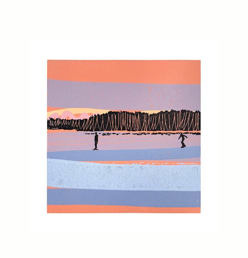 11.02.21/17:25 | Linocut | 2021 | Kristi Neider | Printmaking
