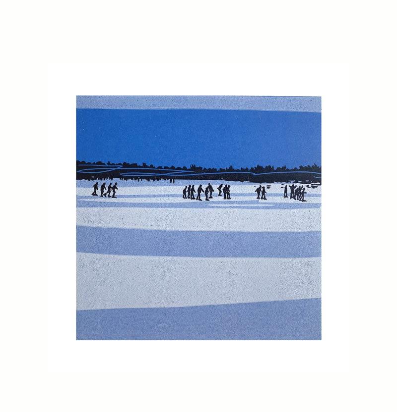 12.02.21/11:53 | Linocut | 2021 | Kristi Neider | Printmaking