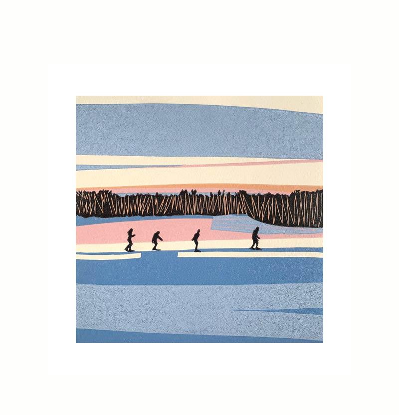 13.02.21/17:19 | Linocut | 2021 | Kristi Neider | Printmaking